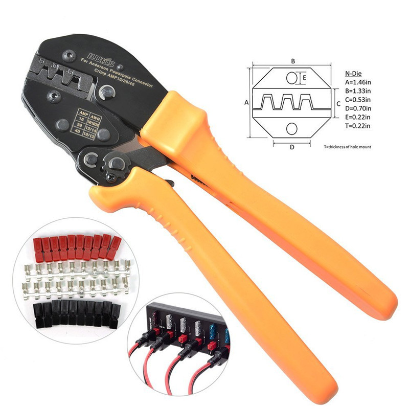 Iwiss Ap-153045a Anderson cable plug terminal crimping pliers connector terminal pliers hand tools c