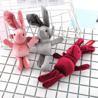 meiyang Búp bê vải Hàn quốc velvet thỏ dolly velvet thỏ treo quà valentine tặng phụ kiện búp bê