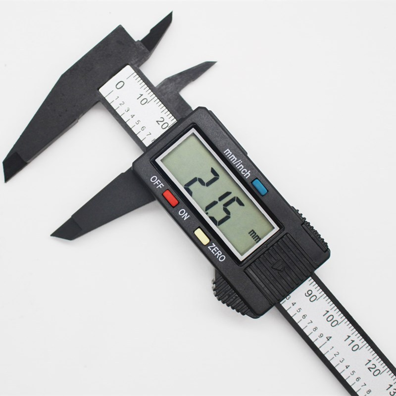 TIMO Electronic digital display calipers 0-150 mm carbon fiber digital large screen plastic digital