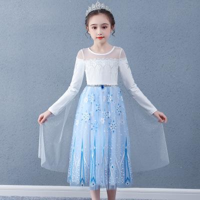 bybs Đầm váy trẻ em Hàn quốc trẻ em mùa thu dài tay áo váy mới tuyết 2 ai-sa công chúa váy ren áo ho