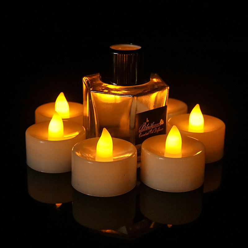 New LED electronic candle lamp wedding decoration candle lamp Christmas Wansheng smoke-free simulati
