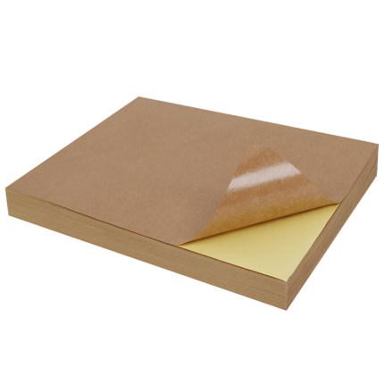Tem dán in mã vạch  [Mua 4 tặng 1] Liwu A4 nhãn dán giấy kraft a5 giấy in kraft viết mờ carton màu t
