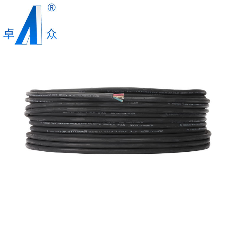 zhuozhong Shanghai zhuozhong national standard rubber sheathed flexible cable YZ 3 * 6 Rubber Cable