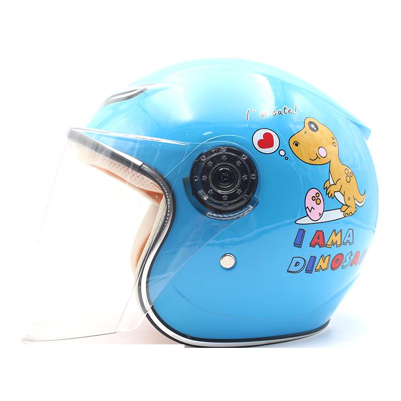 ZDK Children's helmet electric motorcycle boy girl child baby four seasons cartoon helmet cute wint