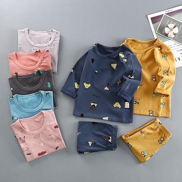 Đồ Suits trẻ em Lycra bông combo áo sơ mi trẻ em quần lót phù hợp với bé trai cô gái trẻ em trẻ em m