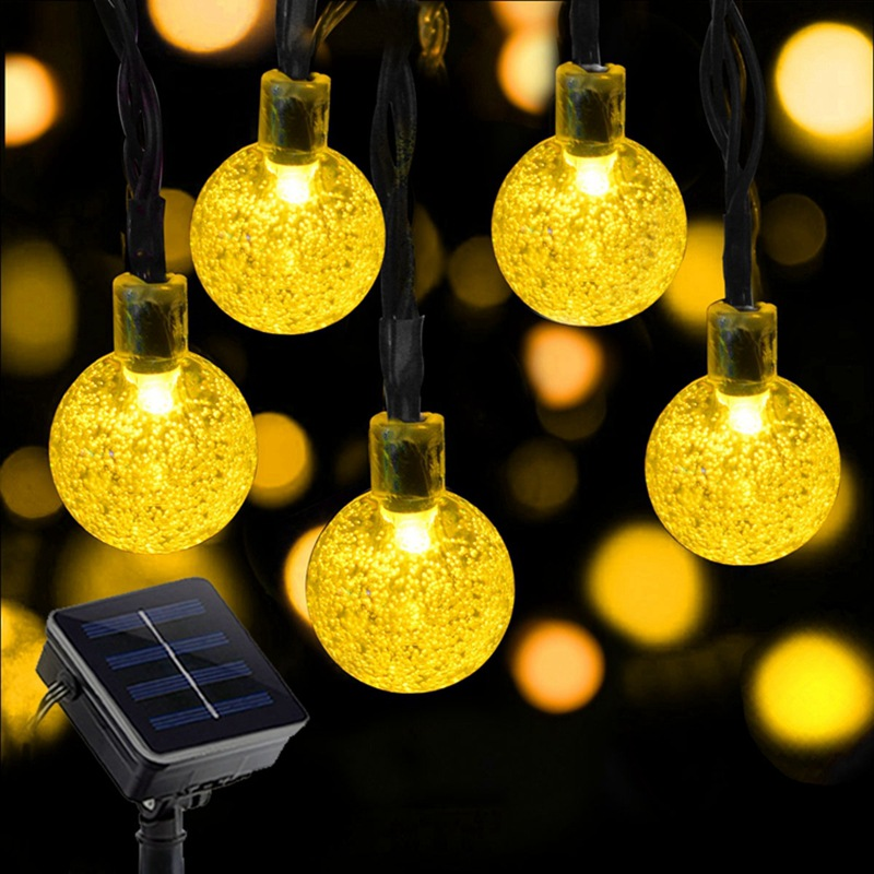 Solar LED light string Festival Outdoor garden decoration garden lantern bubble Christmas light stri