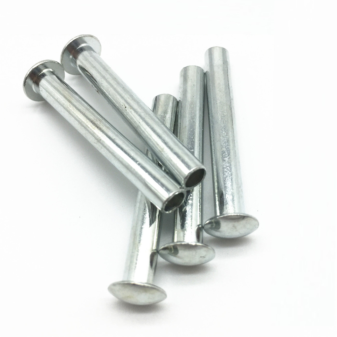 DENGBO Semi hollow flat round head iron rivet metal single face industrial white galvanized rivet