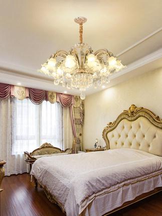 Zunge Bóng đèn nến  phong cách châu Âu đèn chùm đèn pha lê phòng khách phòng ngủ tối giản hiện đại đ