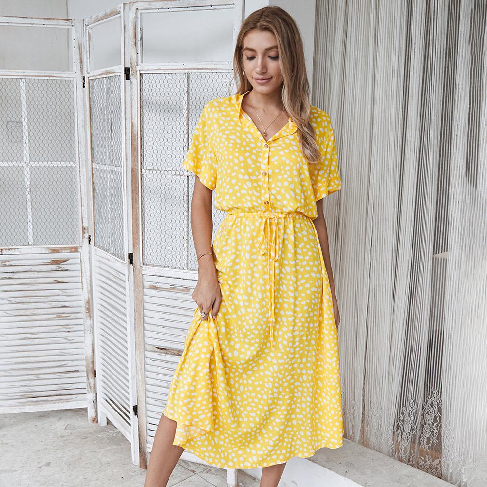 Original design European and American fashion women's independent station 2020 summer wave point sh