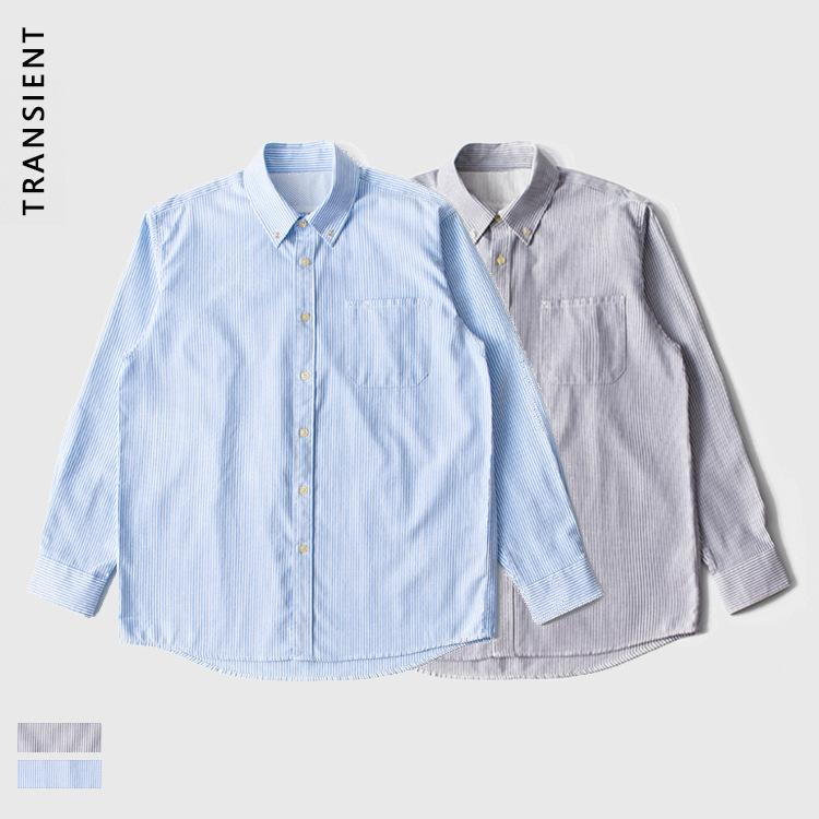 TRANSIENT TRS men's wear | 2020aw Japanese work wear Oxford spinning used wash shoulder shirt men'