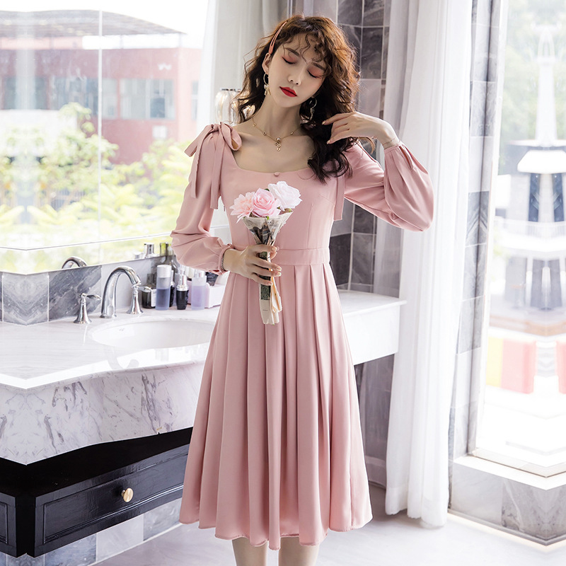 Elder sister skirt with wind and waves summer temperament machine dress 2020 new sweet fashion