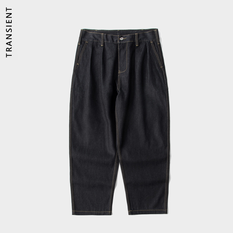 TRANSIENT TRS men's wear | 20ss day fashion double pleated Chino loose primary color micro cone cas