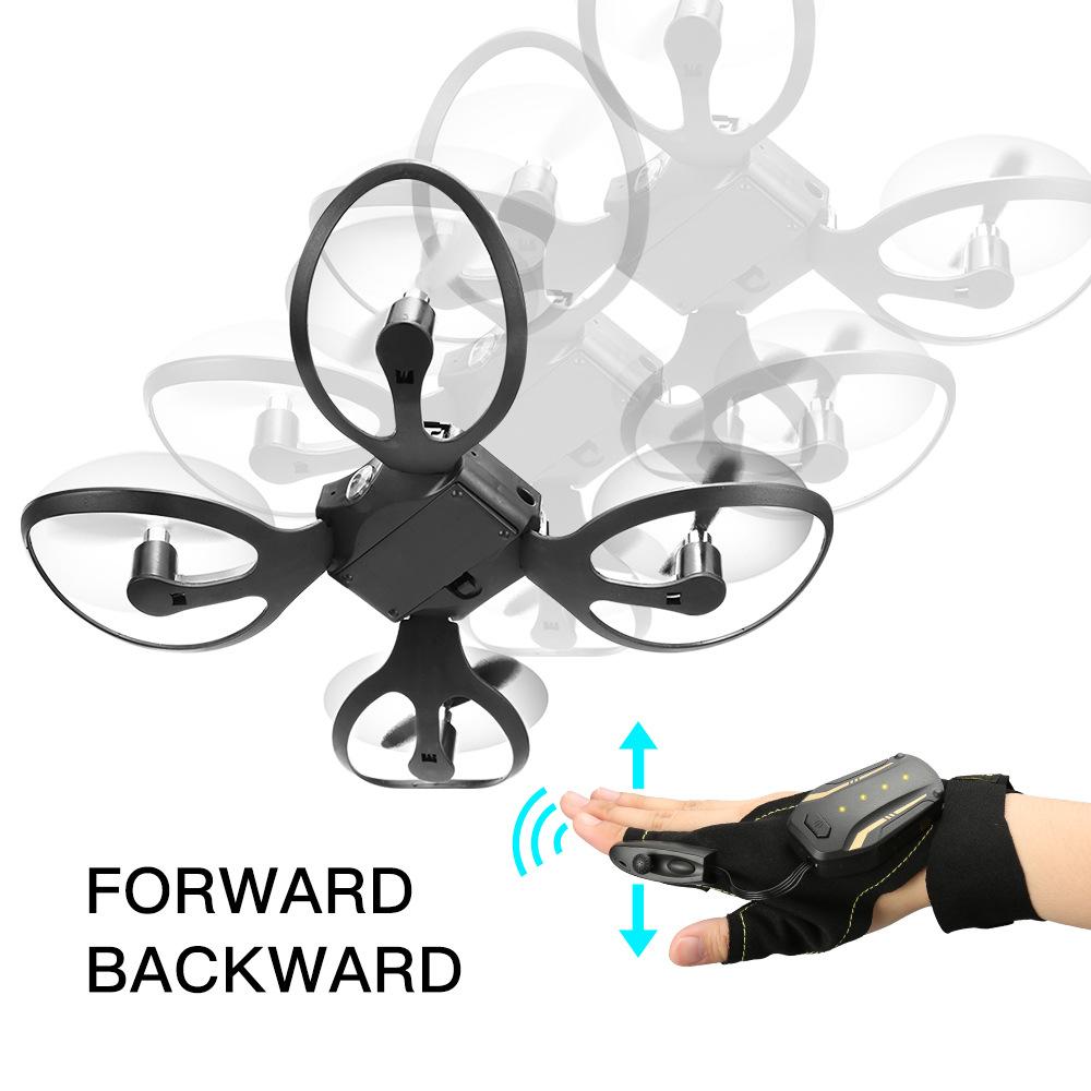HUAJUN Folding UAV gesture control aerial photography four axis aircraft body sense gravity inductio
