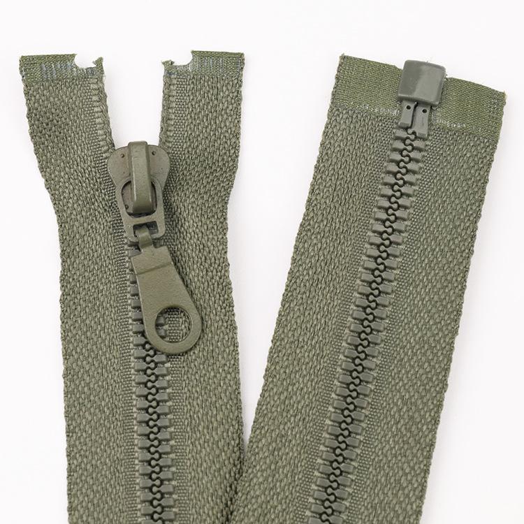 YIQIAO Fine teeth No.5 open end resin zipper color matching gourd head clothing school uniform work