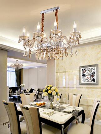 Bóng đèn nến Đèn chùm phong cách châu Âu phòng khách nến đèn pha lê Jane Olong đèn nhà hàng đèn khí