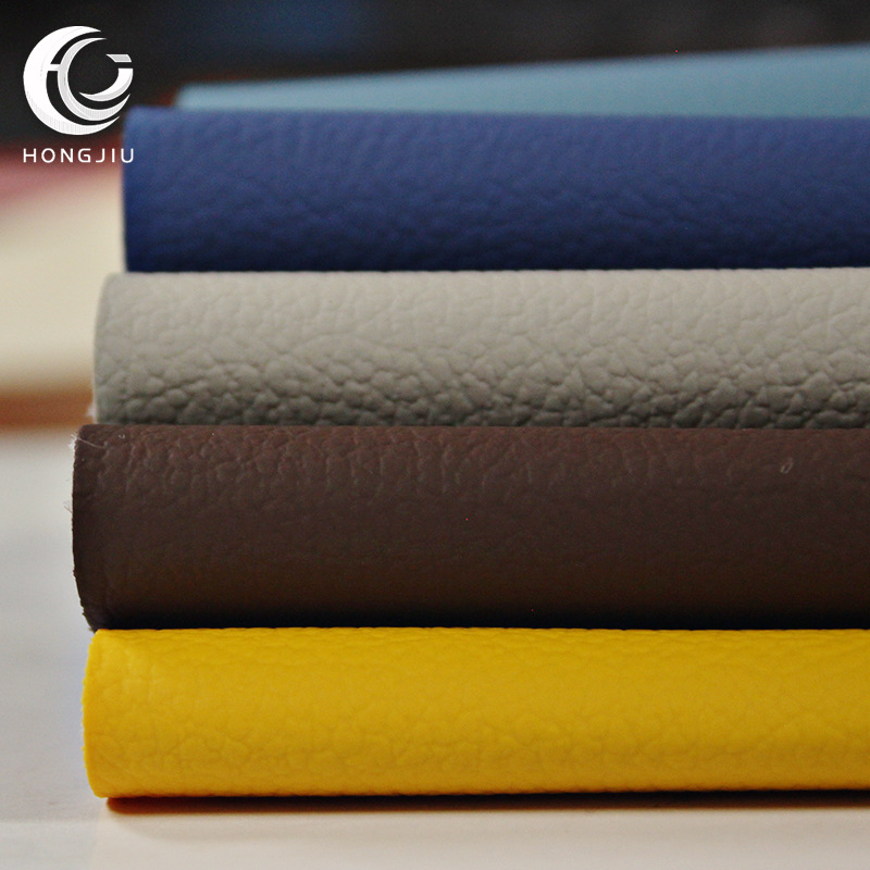 Leather litchi grain PVC artificial leather yacht upholstery sofa furniture car seat leather fabric