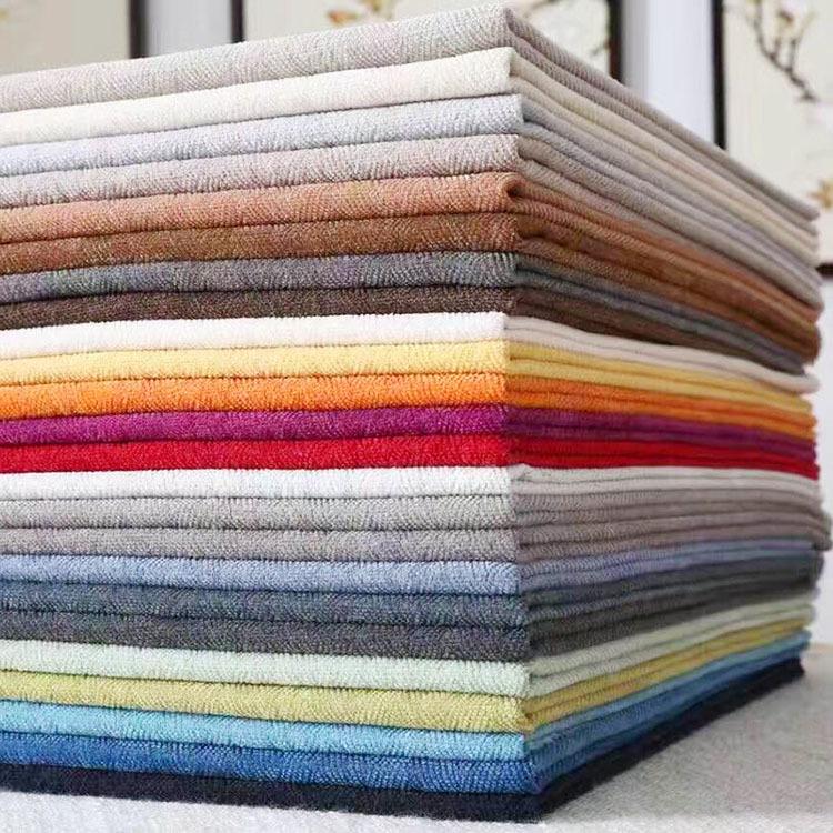 Chenille jacquard sofa fabric yarn dyed linen thickened cushion cushion upholstery sofa towel tablec