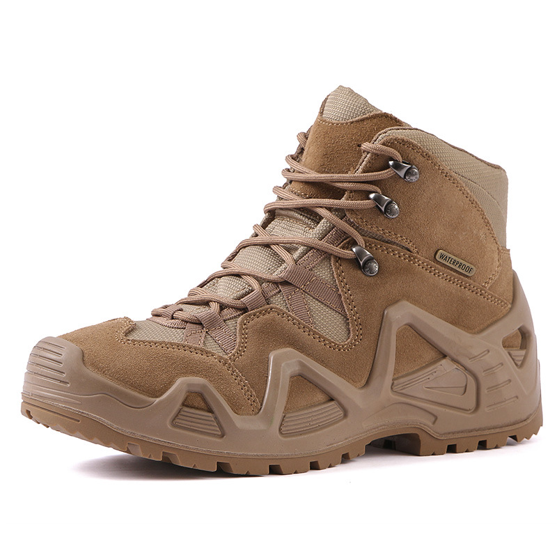 JLXY Military boots mountaineering shoes men's and women's outdoor shoes army fans combat boots wa