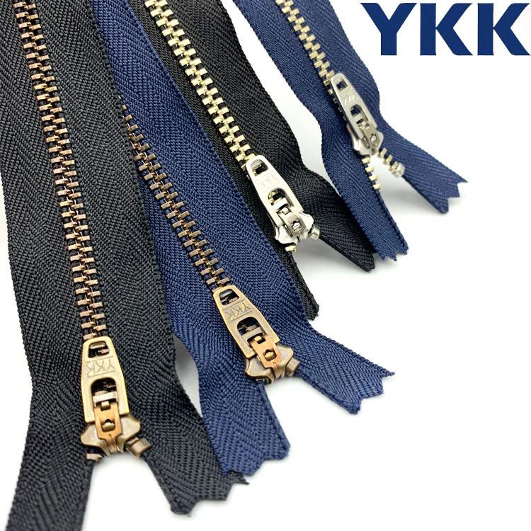 YKK genuine stock 3 ා 4.5 metal zipper pants placket zipper closed zipper zipper spring head zipper