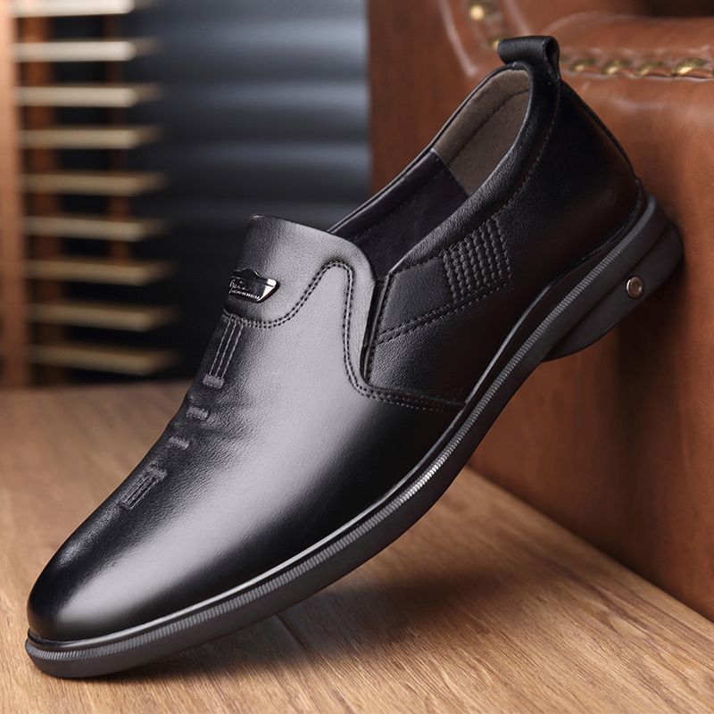 British business casual shoes men's versatile work shoes simple leather shoes