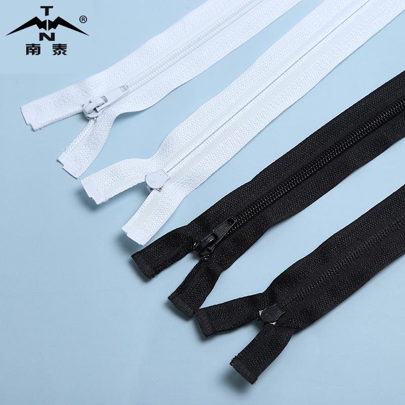 No.5 nylon zipper open end garment coat zipper size and self-locking zipper