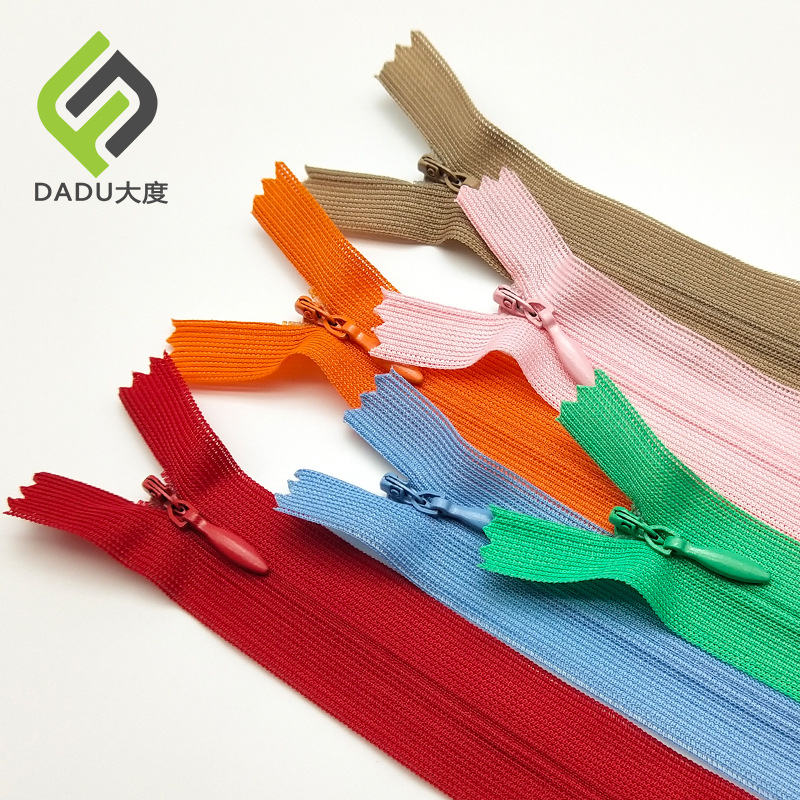 DADU Thickened 3 nylon invisible zipper thick cloth explosion-proof environmental protection inspect