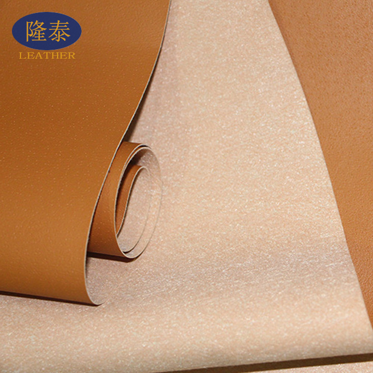Perforated pigskin sole Pu breathable artificial leather shoes lining bag belt imitation leather fab