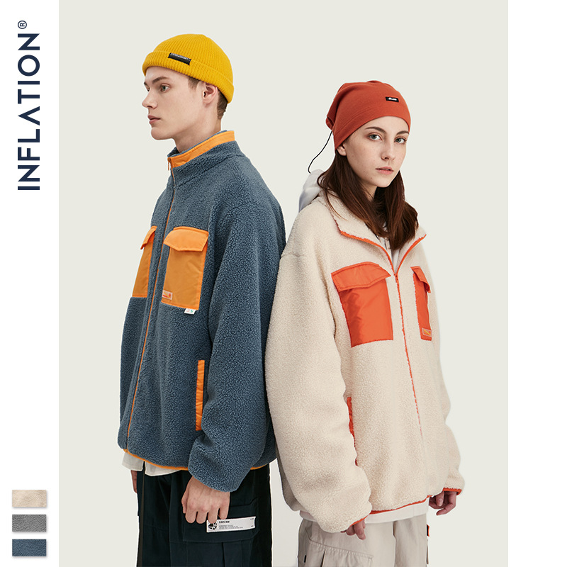 inflation Inf men's wear | new fall / winter 2020 new European and American original color contrast