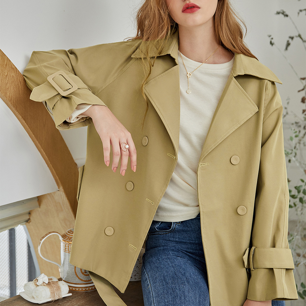 Vaiaye original women's autumn dress 2020 new short coat suit collar long sleeve women's windbreak