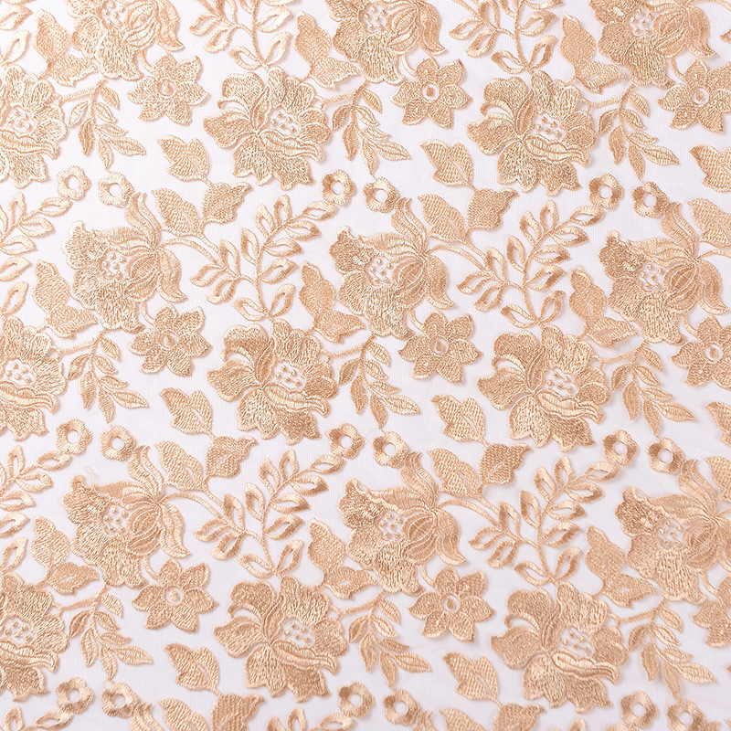 JINCHANGHONG Spot hot selling single color embroidery fabric mesh embroidery fabric wholesale multi