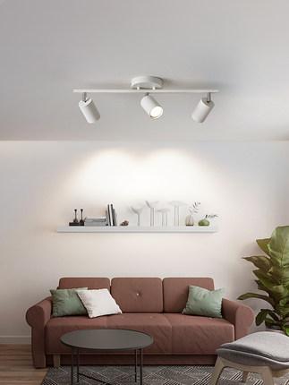 Đèn LED gắn ray Bắc Âu theo dõi ánh sáng đèn chiếu điểm dẫn đèn trần nhà bề mặt gia đình gắn đèn chi