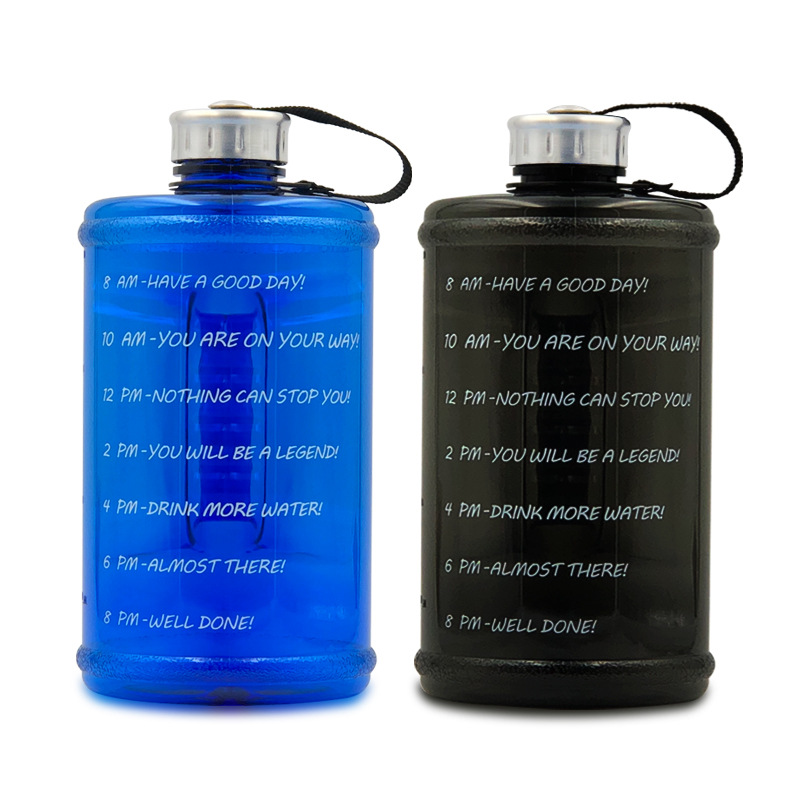 RONYA Sports kettle plastic PETG gym dumbbell large capacity water bottle outdoor space Cup