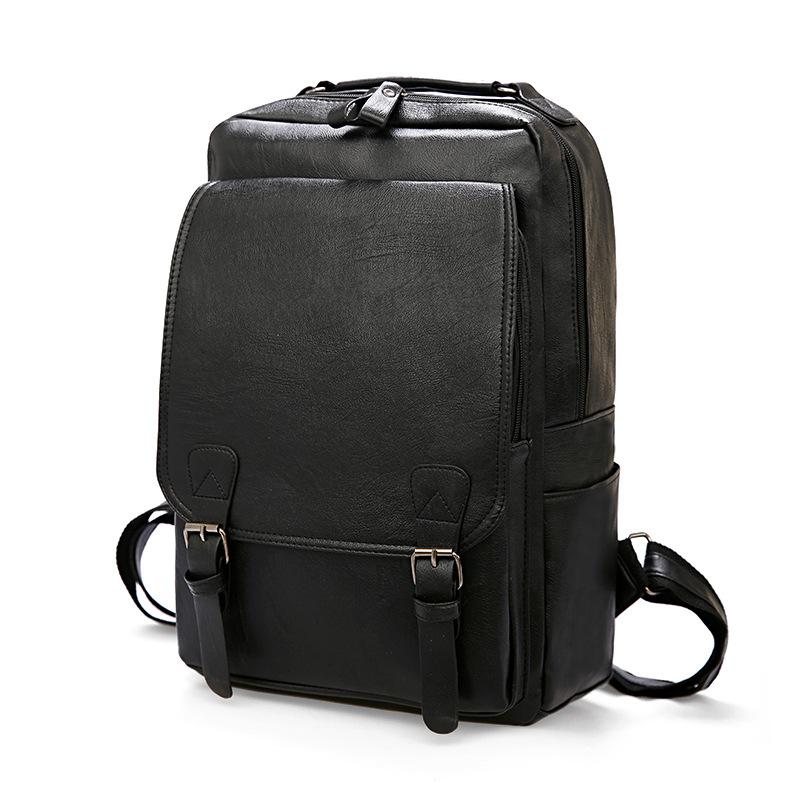 Outdoor sports travel computer bag student bag men's Leather Bag Backpack
