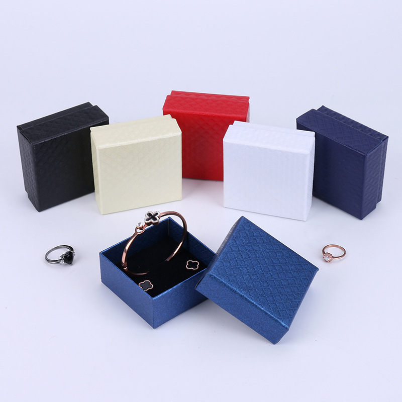 CHAOFA Diamond pattern packing jewelry box Earring Ring Pendant Bracelet multifunctional jewelry box