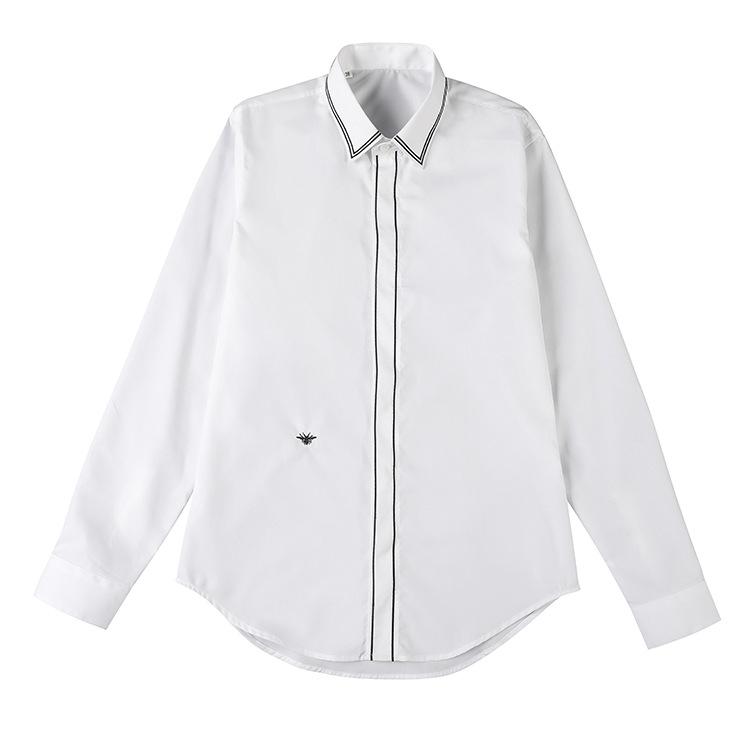 SUNBOLIVE Men's casual shirt solid color long sleeve shirt simple fashion bar pattern line men's t