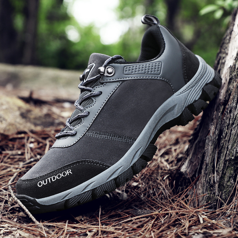 Autumn men's shoes outdoor mountaineering shoes anti slip wear resistant men's leisure sports shoe