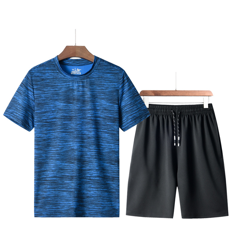 Men's loose fit half sleeve running casual crew neck customizable short sleeve shorts