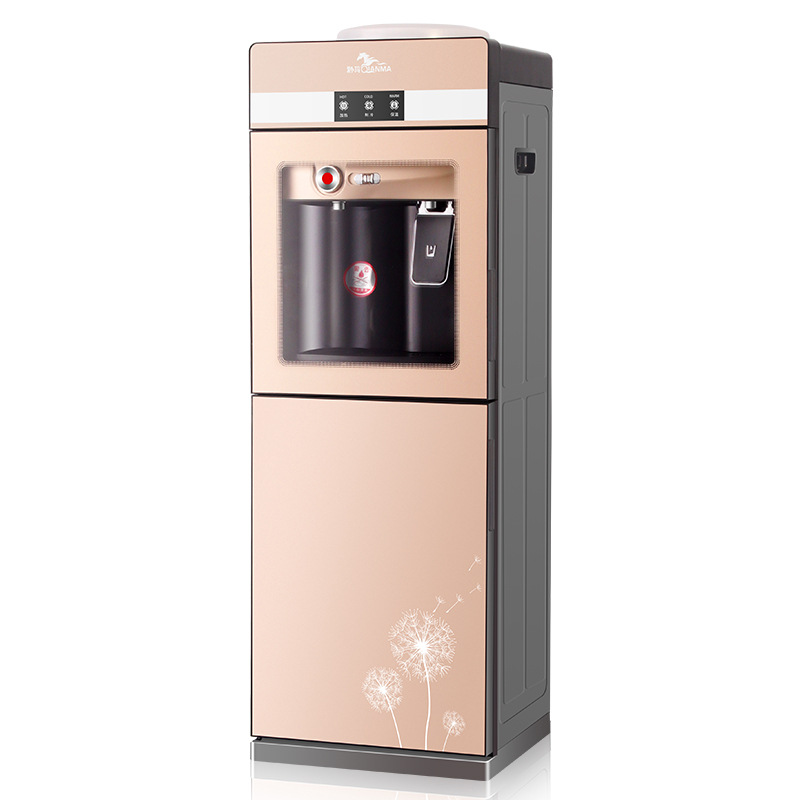 Qianma new water dispenser vertical cold and hot office ice warm double door household toughened gla
