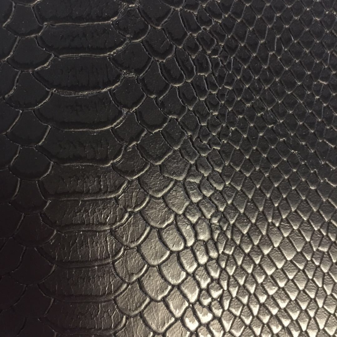 New serpentine Python embossed PU leather synthetic leather case bag shoe material sofa seat bag sof