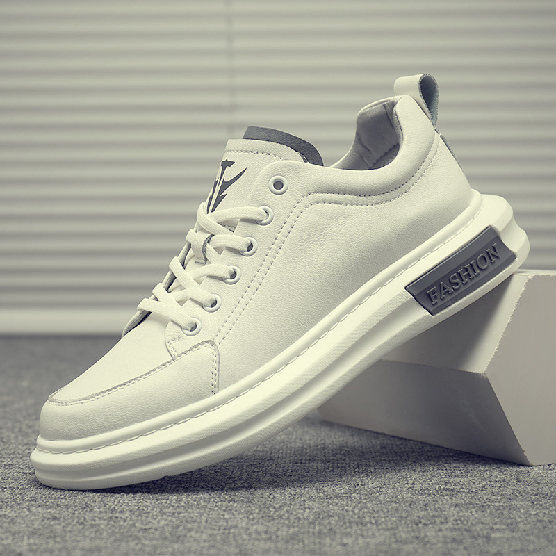 Spring little white shoes men's 2020 new trend thick soled casual board shoes breathable white spor