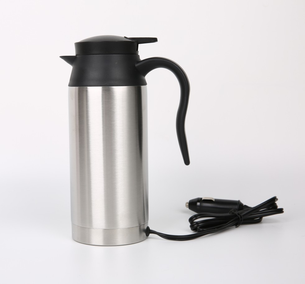 Car kettle 12V & 24V stainless steel car electric kettle heating insulation car cup traveling po
