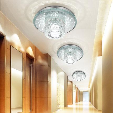 NVC Đ èn rọi chiếu sáng đèn tròn chiếu sáng hiên hành lang lối đi ánh sáng pha lê LED ánh sáng mắt b