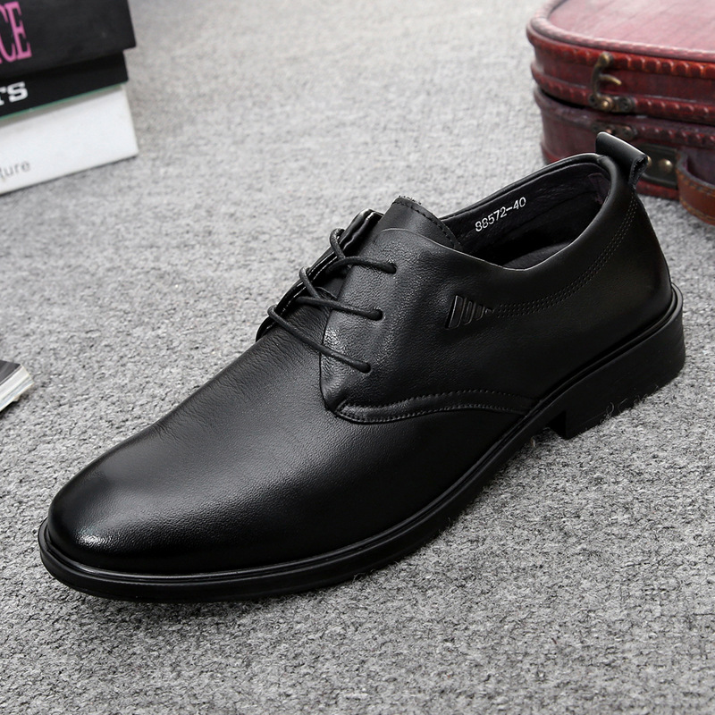 Spring and autumn new leather business dress men's shoes wedding shoes British fashion trend leathe