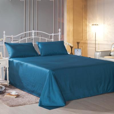 Drap giường Nhà sản xuất bán hàng trực tiếp bông 60 satin khăn trải giường 300 sợi bông màu sắc tấm