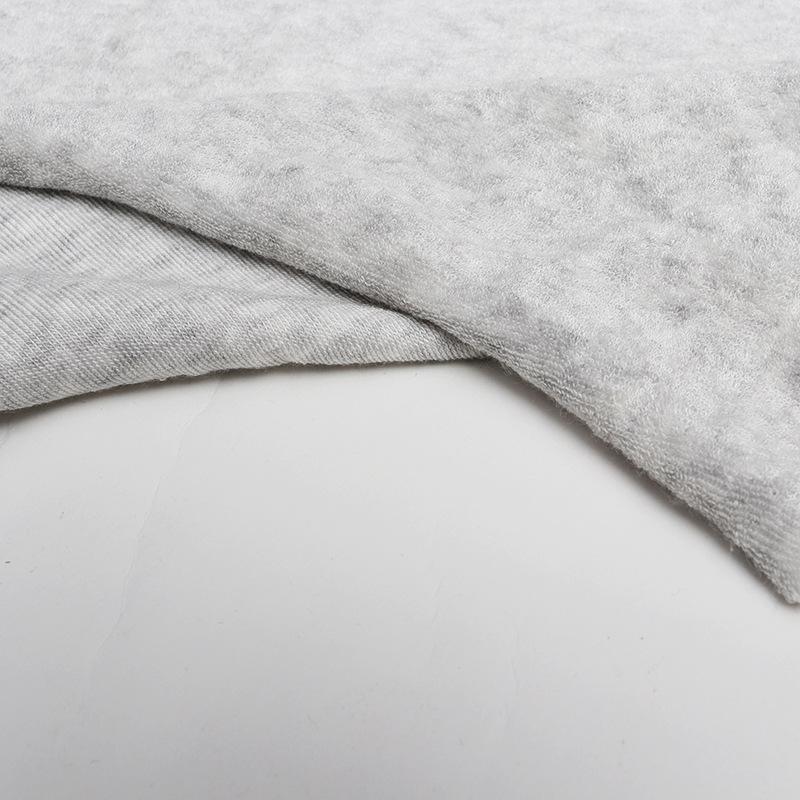 YUANJIU Custom made velvet cloth bamboo fiber linen grey towel cloth household clothing textile towe