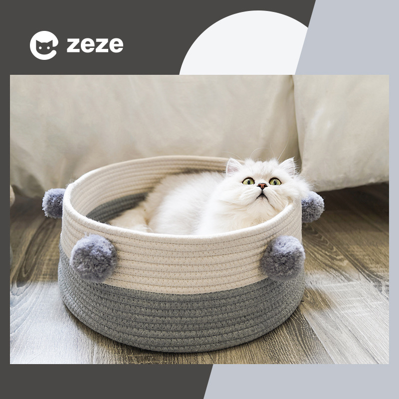Zeze knitting cat's nest four seasons general net red cat cat bed cat house villa small dog kennel