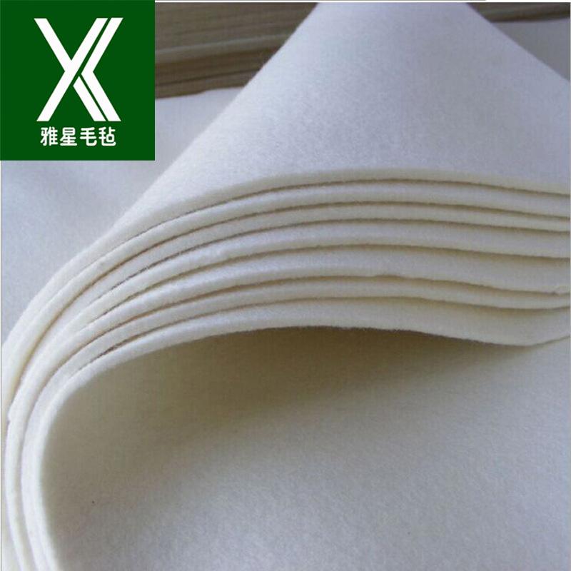 YAXING Sealed high density polished wool felt manufacturer wholesale white dustproof industrial oil
