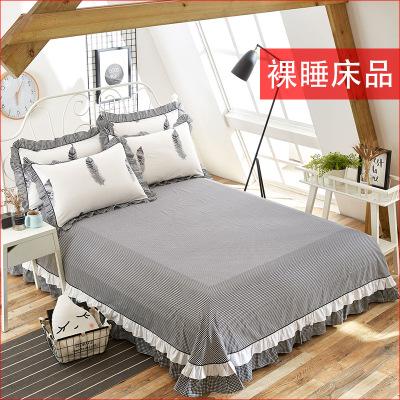 Drap giường Bông đăng ten góc ab đôi 1.8 đặc biệt màu đen và trắng tấm gối gối nhà sản xuất bán buôn