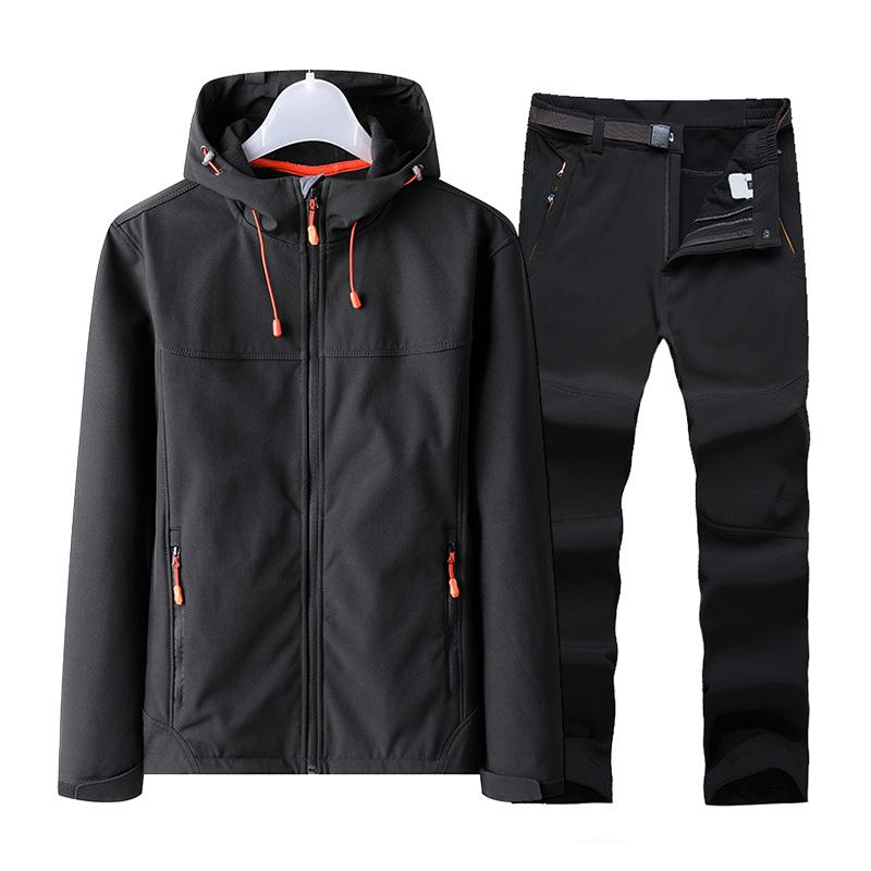 Autumn and winter stormsuit men's outdoor mountaineering suit windproof and waterproof stormsuit me