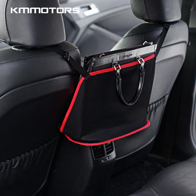 Kmmotors Automobile articles seat net pocket back storage bag car seat slot storage box shelf